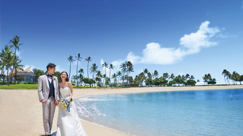 ハワイ オアフ島 コオリナ・チャペル アクア・マリーナのウェディング