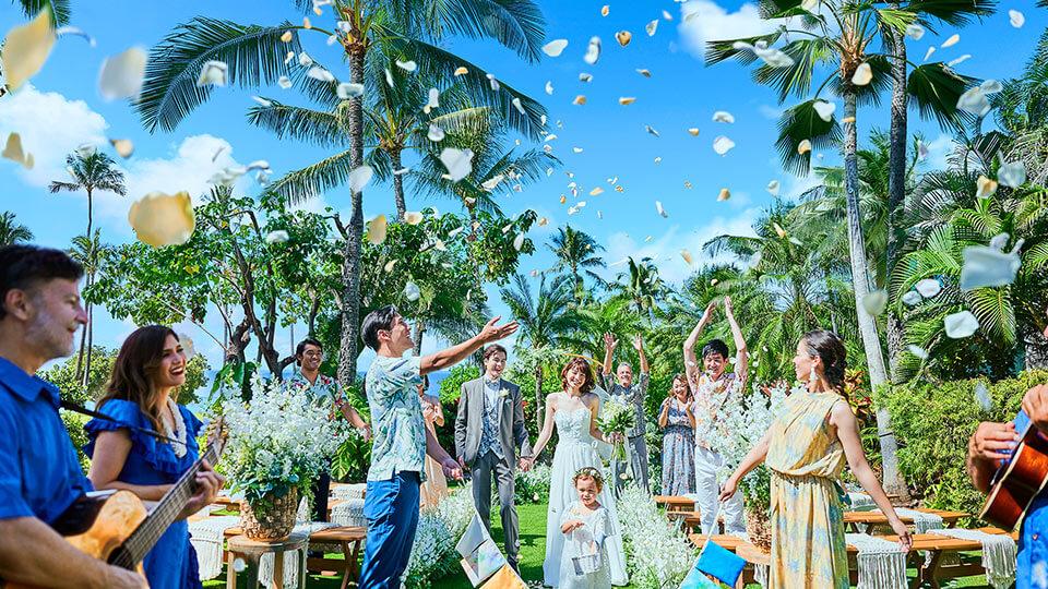 ハワイ・オアフ島のコオリナ アクア・マリーナで挙式
