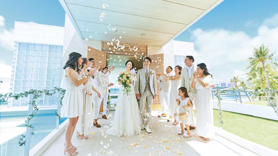 グアムのルース・デ・アモール チャペルの結婚式