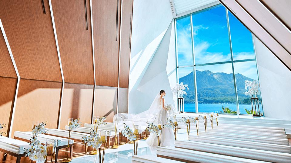 鹿児島県鹿児島市の結婚式場 ザ・ベイスイート 桜島テラス