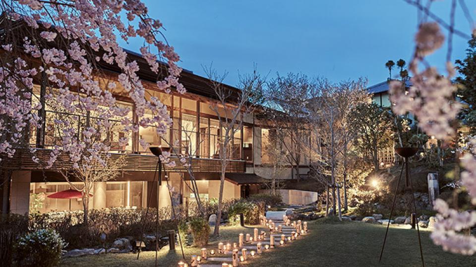 桜鶴苑の日本庭園